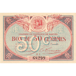 Nantes - Pirot 88-21 - 50 centimes - Série BI - Sans date - Etat : SUP+ à SPL