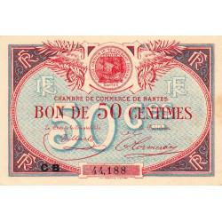 Nantes - Pirot 88-25 - 50 centimes - Série CB - Sans date - Etat : SUP