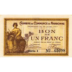 Narbonne - Pirot 89-15 - 1 franc - Etat : SUP+
