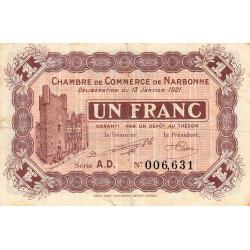 Narbonne - Pirot 89-21 - 1 franc - Etat : TB+