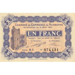 Narbonne - Pirot 89-30 - 1 franc - Etat : NEUF
