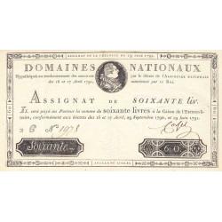 Assignat 14a - 60 livres - 19 juin 1791 - Etat : SPL
