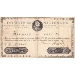 Assignat 15a - 100 livres - 19 juin 1791 - Etat : TB+