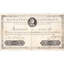 Assignat 15a - 100 livres - 19 juin 1791 - Etat : TTB