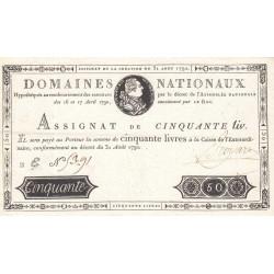 Assignat 32a - 50 livres - 31 août 1792 - Etat : SUP-