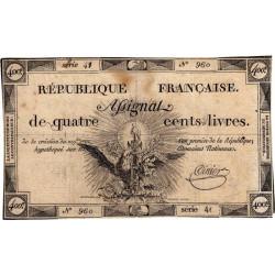 Assignat 38a - 400 livres - 21 novembre 1792 - Etat : TB+