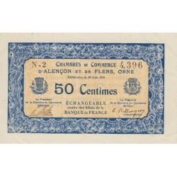 Alençon / Flers (Orne) - Pirot 6-12 - 50 centimes - Série N2 - 10/08/1915 - Etat : SPL