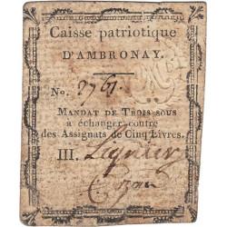 Ain - Ambronay - Kolsky 1-5 - 3 sous - Etat : TB+