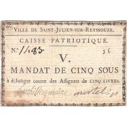 Ain - Saint-Julien sur Reyssouze - Kolsky 01-083 - 10 sous - Etat : SUP