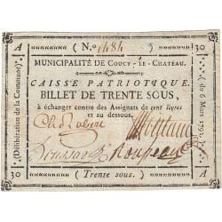 Aisne - Coucy le Château - Kolsky 02-054 - 30 sous - Etat : TTB+