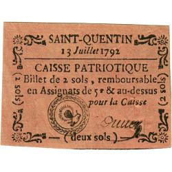 Aisne - Saint-Quentin - Kolsky 2-213 - 2 sols - Etat : SPL