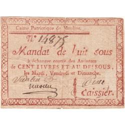 Allier - Moulins - Kolsky 03-041 - 8 sous - Etat : TTB-