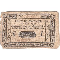 Hautes-Alpes - Saint-Laurent Ducros - Kolsky 05-043 - 10 sous - Etat : TB