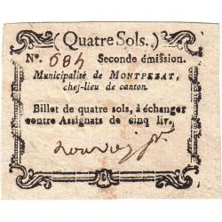 Ardèche - Montpezat - Kolsky 7-89 - 4 sols - Etat : SUP