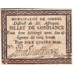 Aveyron - Cornus - Kolsky 12-21 - 4 sols - Etat : TTB+