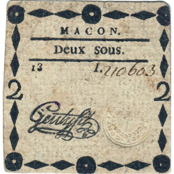 Saône-et-Loire - Macon - Kolsky 71-38 - 2 sous - Etat : TTB
