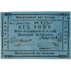 Vosges - Charmes - Kolsky 88-19 - 6 sous - Etat : SUP
