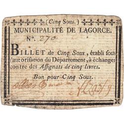Ardèche - Lagorce - Kolsky 07-071 - 5 sous - Etat : TTB