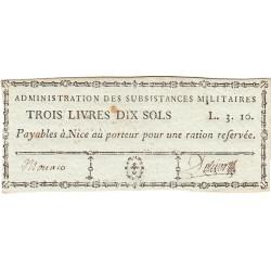 Alpes-Maritimes - Révolution - Nice - Monaco - 3 livres 10 sols - Etat : SUP+
