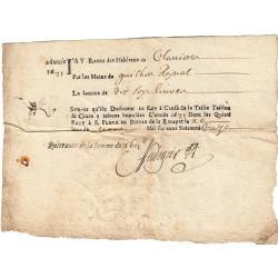 Cantal - Saint-Flour - Louis XIV - Taille, taillon et crues 1671 - 17 livres - Etat : TB+