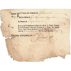 Cantal - Saint-Flour - Louis XIV - Taille, taillon et crues 1671 - 16 livres - Etat : B-