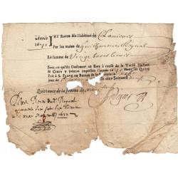 Cantal - Saint-Flour - Louis XIV - Taille, taillon et crues 1672 - 23 livres - Etat : TB+