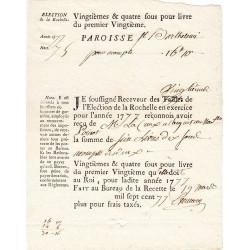 Charente-Maritime - La Rochelle - Louis XVI - Vingtièmes et quatre sous de 1778 - Etat : SUP