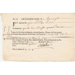 Cher - Bourges - Louis XV - Imposition de 1741 à 1744 - 4 livres - Etat : SPL