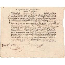 Finistère - Plougasnou - Louis XIV - Dixième du revenu de 1713 - 27 livres - Etat : TTB à SUP
