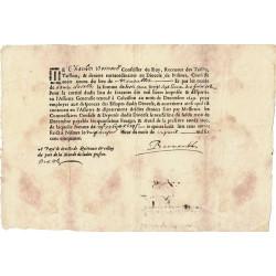 Gard - Calvisson - Louis XIV - 1650 - Tailles du diocèse de Nimes - 327 livres - Etat : TTB
