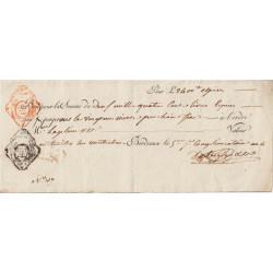 Gironde - Bordeaux - Révolution - Billet à ordre - 2400 livres - 1796 - Etat : SUP