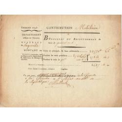 Ille-et-Villaine - La Guerche - Révolution - Contribution mobiliaire 1793 - 4685 livres - Etat : TTB+