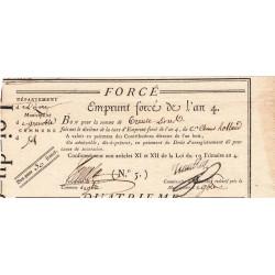 Isère - Grenoble - Révolution - Emprunt forcé de l'an IV - 30 francs - Etat : TTB+