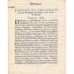 Isère - Lavars - Louis XV - Feuille de saisie de 1716 - 24 livres - Etat : SUP