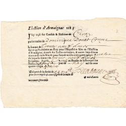Landes - Armaignac - Louis XIII - Tailles ordinaires de 1634 - 39 livres - Etat : SUP