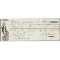 Loire - St-Etienne - Lyon - 1er Empire - 1810 - Mandat à ordre - 740 livres tournois - Etat : SPL