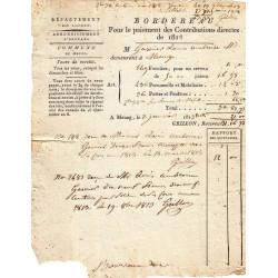 Loiret - Meung - 1er Empire - 1913 - Contributions directes - Etat : TB+