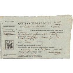 Loiret - Meung - 1er Empire - 1811 - Quittance des droits - Etat : TTB+