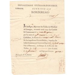 Lot-et-Garonne - Montesquieu - Louis XVI - 1775 - Tailles : impositions extraordinaires - 1200 livres - Etat : SUP