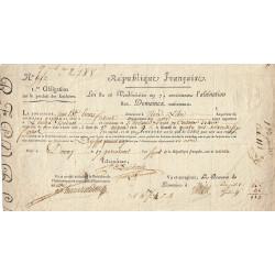 Nord - Douai - Révolution - 1799 - Aliénation des Domaines nationaux - Etat : TTB+