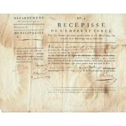 Saône-et-Loire - Charolles - Révolution - 1794 - Emprunt forcé de 1794 - Etat : TTB