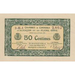 Alençon / Flers (Orne) - Pirot 6-16 - 50 centimes - Série 2H1 - 10/08/1915 - Etat : SPL