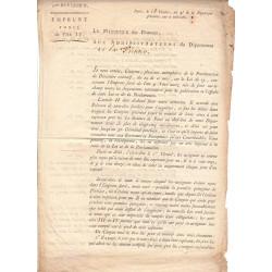 Seine - Paris - Révolution - 1796 - Emprunt forcé de l'an IV - Etat : TTB