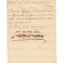 Seine - Paris - 1789 - Révolution - Banquier Laborde de Mereville - Etat : SUP
