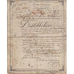 Seine - Paris - Consulat - 1801 - Dette viagère - 50 francs - Etat : TB+