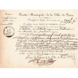 Seine - Paris - 1er empire - 1811 - Recette municipale - 2997 francs - Etat : TTB+ à SUP