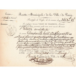 Seine - Paris - 1er empire - 1812 - Recette municipale - 2862 francs - Etat : SUP