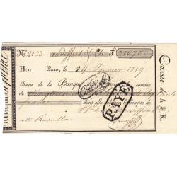 Seine - Paris - Louis XVIII - 1819 - Banque de France - 21670 francs - Etat : SPL