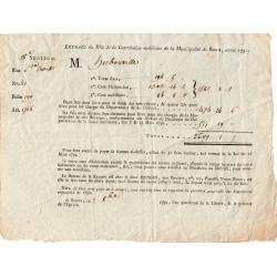 Seine-Maritime - Rouen - Révolution - Contribution mobilière 1791 - 2609 livres - Etat : TTB