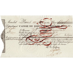 Belgique - Bruxelles - 1er Empire - 1810 - Mandat de 600 francs - Etat : SUP